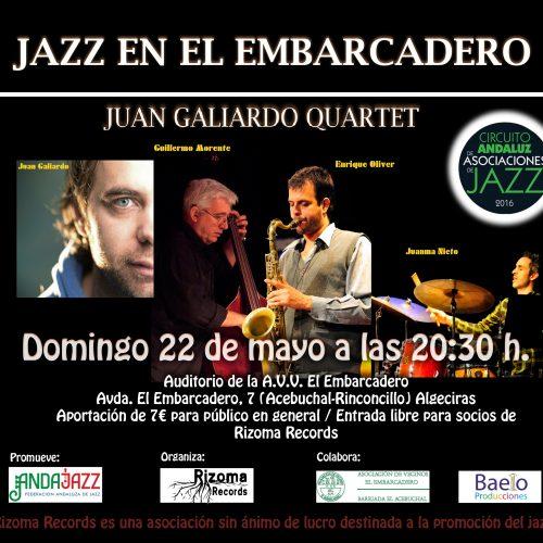 - Domingo, 22 de mayo - 20.30h.: Auditorio de la AVV El Embarcadero. Avda. El Embarcadero, 7 (Acebuchal-Rinconcillo) Algeciras (Rizoma Records)